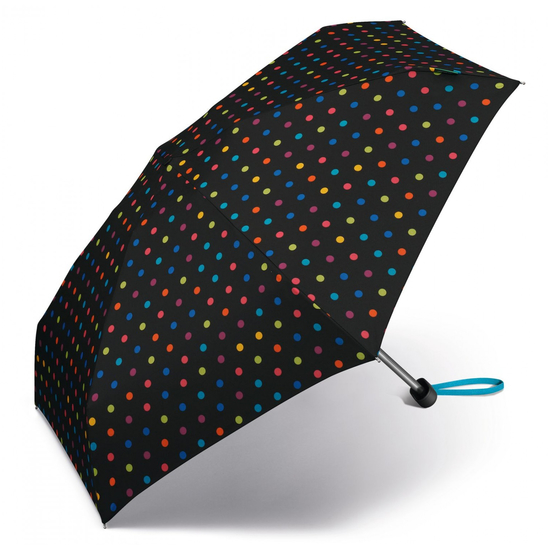 United Colors of Benetton Schirm Ultra Mini Flat Multidots Black