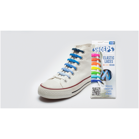 Shoeps Schnürsenkel Elastic Laces Blue Mix