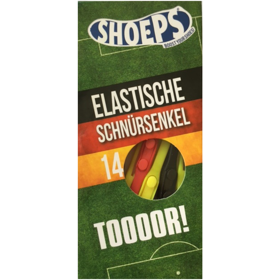 Shoeps Schnürsenkel Elastic Laces Mix Schwarz Rot Gold