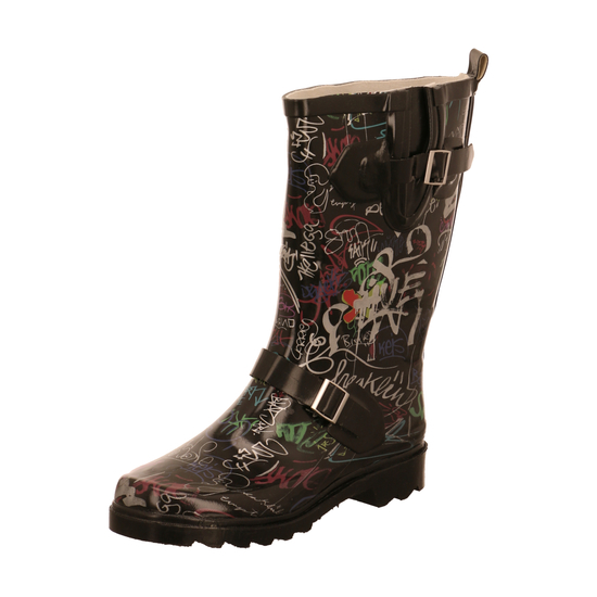 Beck Gummistiefel Graffiti Black