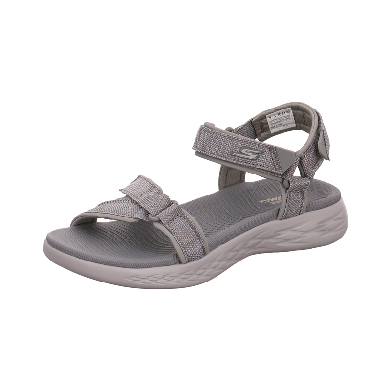 Skechers Sandale On The Go 600 Radiant für Damen in grau | P&P Shoes
