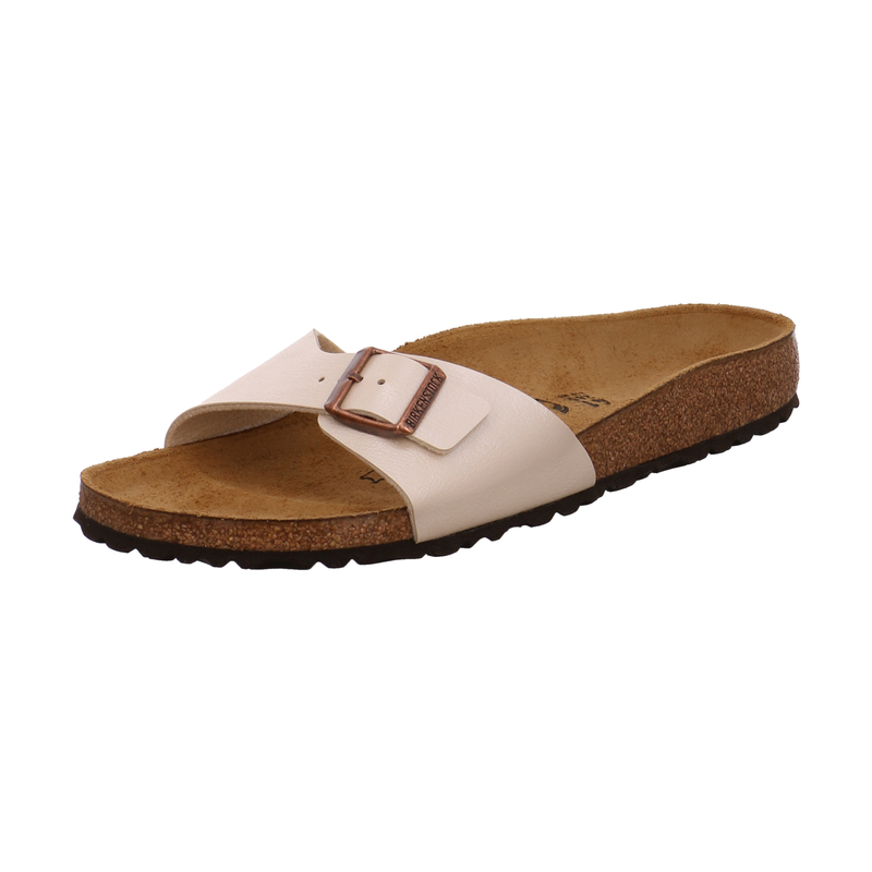 Birkenstock Pantolette Madrid BS für Damen in beige | P&P Shoes