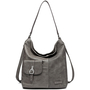 Hobo Bag S grey comb